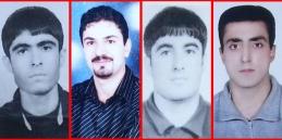 ابلاغ اجرای حکم اعدام ۴ زندانی اهلسنت به خانواده هایشان