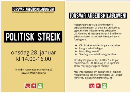 POLITISK STREIK I STAVANGER